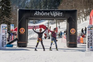 Pierra Menta 2016 Champions. I just don't understand how that is not the skin suit of the Canadian National Team - flannel and jeans!?