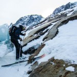 Scraping down the Argentiere Glacier with a load of climbing gear in the Raven. (Nick Elson Photo)