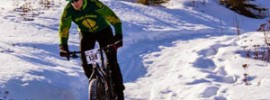 This last winter, due to living in flat Edmonton, Peter rode his fat bike a lot as means of training for skimo.
