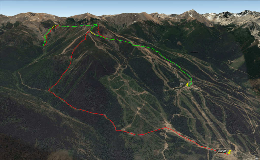 The long course of the individual race on Saturday. Click image to enlarge.