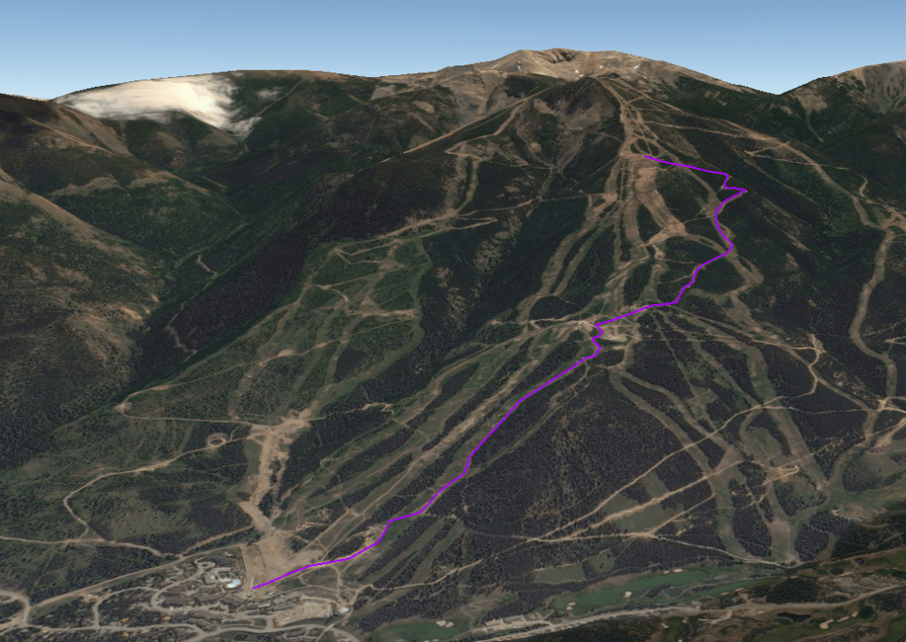 Sunday vertical race course. Click image to enlarge.