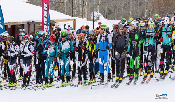 Close to 130 athletes lined up for individual race at Sunlight Mountain, Colorado.