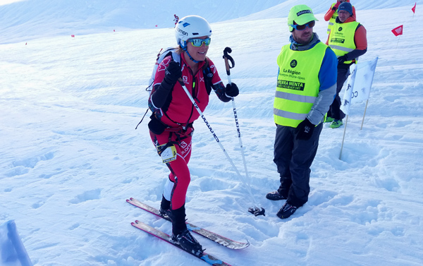 Emelie Forsberg looking more relaxed than during the previous days.