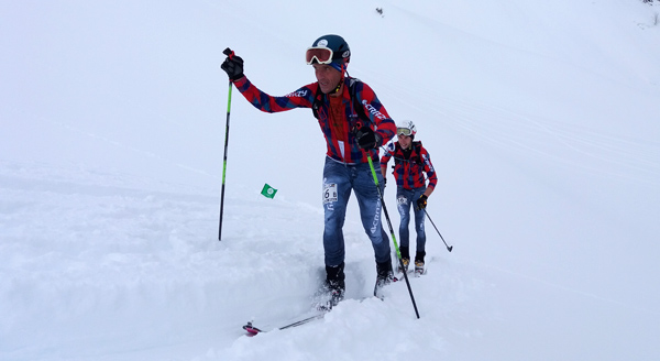 Florent Perrier, a skimo legend and a local cheesemaker, is arguably the most favourite racer with Areches - Beaufort locals as he is still going string past 40. Today his team finished 12th!