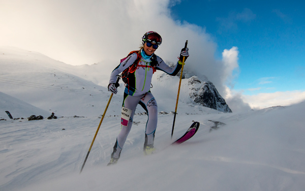 Martina Valmassoi battling arctic elements.