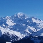 Magical view of the Mont Blanc massif today.
