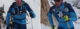 Quinn Simmons (cadet) and Ian Clarke (junior) - both very talented cyclists trying their hand in skimo in the winter. Photo by Matt Reid.