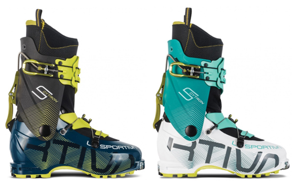 La Sportiva Sytron men's version on the left, women's on the right.