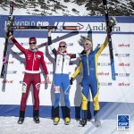 Women's podium at WC vertical race in Andorra last week. Photo by ISMF.