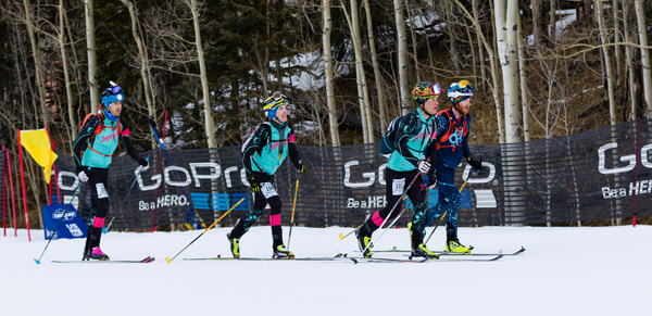 Lead pack at Tellurando. Photo by Brashear Photo.