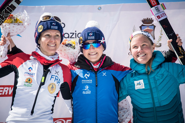 Women's individual race podium. Photo by ISMF.