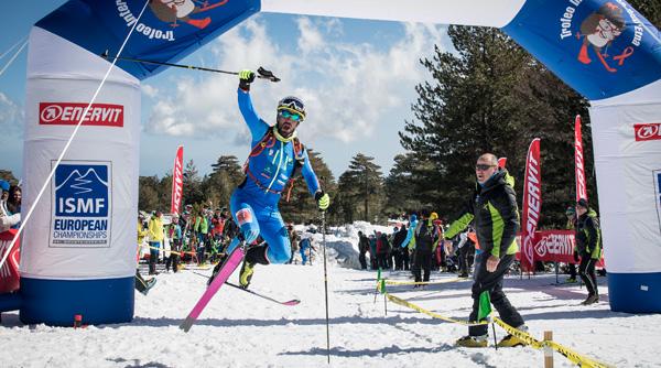 Ski like Antonioli, celebrate like Antonioli :) Photo by ISMF.