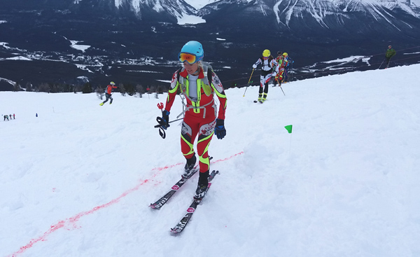 Kylee Ohler on her way to winning Pan-Am Championships sprint race.