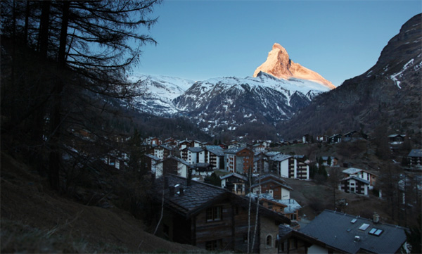 Legendary village of Zermatt with the arguably the most iconic mountain in the world in the background. Photo by PDG.
